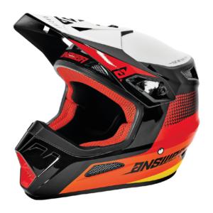 AR1 SWISH Red Orage Silver motorcycle helmet